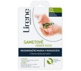 Lirene Velvet soft hands 3% urea 2 phase peeling and regenerating mask in gloves