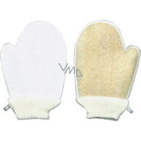 Abella Lufa Cylindrica Massage Washcloth Gloves + Terrycloth LF no.15 17 x 23 cm