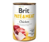 Brit Paté & Meat Chicken and beef pure meat paté complete dog food 400 g