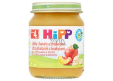 HiPP Fruit Organic Apples with bananas and peaches fruit side dish, reduced lactose content and without added sugar for children 125 g