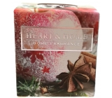 Heart & Home Red apple with star anise Soy scented candle without packaging burns for up to 15 hours 52 g