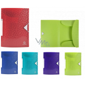 Exacompta Offix file folders with rubber band A4 maxi, PP, 1 piece, mix of 5 colors