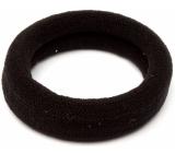 Hair band black 6 x 2 cm