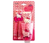 Hello Kitty 2x.toothbrush + cup + toothpaste 75 ml gift set expiration 11/2018