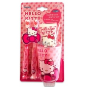 Hello Kitty 2x toothbrush + cup + toothpaste 75 ml gift set exp.11 / 2018