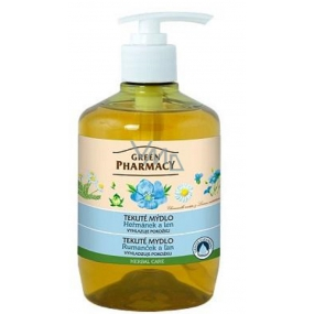 Green Pharmacy Chamomile and Flax liquid smoothing soap 460 ml
