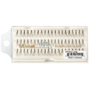 Bloom Natural Long-haired eyelashes with natural Flare Long knot 60 pieces