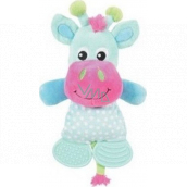 Zolux Plush Cow blue whistling toy for puppies 26.5 cm