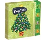 Big Soft Vánoční papírové ubrousky Světle zelené, vánoční stromek 33 x 33 cm 2 vrstvé 20 kusů