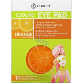 Absolute New York Cooling Eye Pad Orange with Vitamin E Cool Eye Swabs 16 Pieces