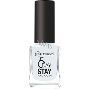 Dermacol 5 Day Stay Long-lasting nail polish 01 Snow White 11 ml