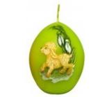 Zvířátka Beránek velikonoční svíčka světle zelená vajíčko 54 g