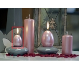 Lima Pastel candle metal light pink egg 40 x 60 mm 1 piece
