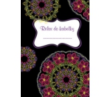 Ditipo Relax in Handbag Mandala with pink flowers notebook 15 x 10.5 cm