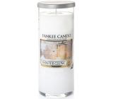 Yankee Candle Winter Glow - Zimní záře vonná svíčka Décor velký válec sklo 75 mm 566 g