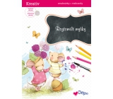 Glitter Coloring Book Ditipo Rotomilé Mice 4056