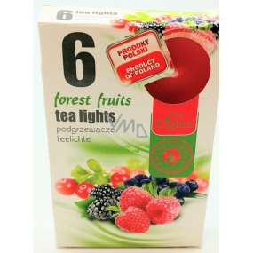 Tea Lights Forest Fruits with forest aroma scented tea candles 6 pieces