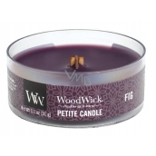 WoodWick Fig - Scented candle with wooden petite knit 31 g
