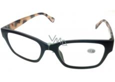 Berkeley Reading Prescription Glasses +1.5 plastic black side tiger ER4198