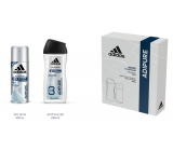 Adidas Adipure 150 ml men's deodorant spray + 250 ml shower gel, cosmetic set