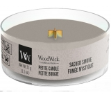 WoodWick Sacred Smoke - Mystical smoke scented candle with wooden wick petite 31 g