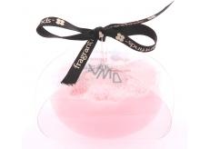 Fragrant Engagement Glycerinové mýdlo masážní s houbou naplněnou vůní parfému Lanvin Marry Me v barvě bílorůžové 200 g
