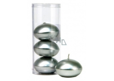 Candle floating metal silver in tube 50 x 120 mm 4 pieces