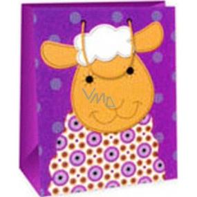 Ditipo Gift paper bag 26.4 x 13.7 x 32.4 cm dark pink sheep AB