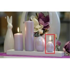 Lima Pastel svíčka metal světle fialová vajíčko 40 x 60 mm 1 kus