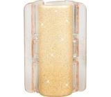 Linziclip Maxi Vlasový skřipec perleťově béžový se třpytkami 8 cm vhodný pro hustší vlasy 1 kus