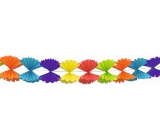 Garland Folded bow colored paper 300 x 23,5