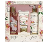 Jeanne en Provence Pivoine Féérie - Peony fairy hand cream 75 ml + body lotion 250 ml + shower oil 250 ml, cosmetic set