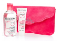 Bioderma Sensibio H2O micellar make-up water 250 ml + Sensibio Rich Moisturizing Cream 40 ml + bag