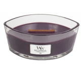 WoodWick Fig - Fig scented candle with wooden wide wick and glass lid 453 g