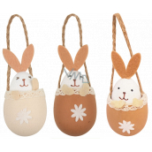 Egg with hare for hanging 10 cm 1 piece