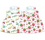 First Steps Washable bib Cars, strawberries 33 x 39 cm