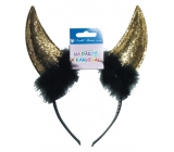 Devil horns gold headband