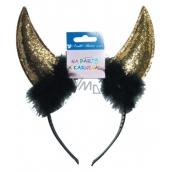 Devil horns gold headband
