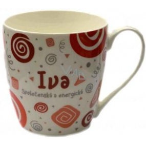 Nekupto Twister mug named Iva red 0.4 liter