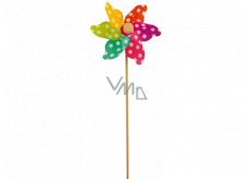 Pinwheel with colored blades and polka dots 9 cm + skewers 1 piece