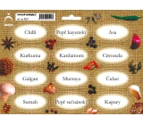Arch Spice Stickers Jute Color Paint Chilli - Oriental Spice 0521