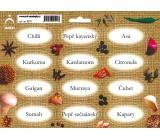 Arch Spice Stickers Jute Color Printing Chilli - Oriental Spice