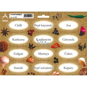 Arch Spice Stickers Jute Color Paint Chilli - Oriental Spice 0521
