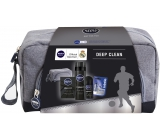 Nivea Etue Men Deep Clean a / s + gel hol 200 + r-on + Labello 9248