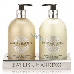 Baylis & Harding Jojoba, Silk and Almond oil liquid soap + hand milk 2 x 500 ml