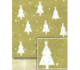 Paper ball bearing 5mx70cm BVD gold - white trees