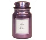 Village Candle Wild Lilac scented candle in glass 2 wicks 602 g