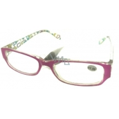 Eyeglasses + 3.5 pink side with rectangles MC2084