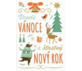 Nekupto Christmas Cards Merry Christmas and Happy New Year 3380 R