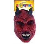 Devil mask with adult horns